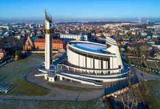 Heiligdom van Goddelijke Genade in Lagiewniki, Krakau, Polen Stock Foto's