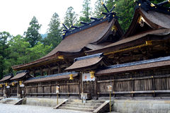 Heiligdom van Hongu Taisha, in Kumano Kodo, Kansai, Japan royalty-vrije stock foto's