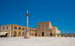 Heiligdom van Santa Maria di Leuca, Puglia, Italië Stock Foto