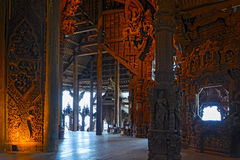 Heiligdom van Waarheid houten beeldhouwwerk Stock Foto's