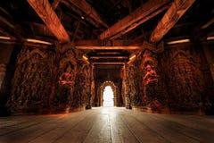 Heiligdom van waarheid Pataya in Thailand Stock Foto's