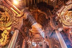 Heiligdom van Waarheid in Pattaya Stock Afbeeldingen