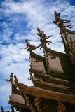 Heiligdom van Waarheid in Pattaya Stock Foto
