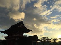 Heiligdom & zonsondergang Stock Afbeeldingen