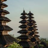 Heiligdombovenkanten in Pura Besakih Temple Royalty-vrije Stock Foto