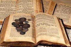 Heilige alte jüdische Bücher lizenzfreie stockbilder