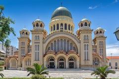 Heilige Andrew Church, de grootste kerk in Griekenland, Patras, de Peloponnesus, Westelijk Griekenland stock afbeelding