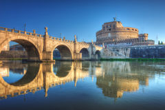 Heilige Angel Castle (Castel Sant Angelo) Rome royalty-vrije stock foto