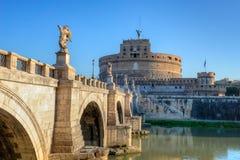 Heilige Angel Castle (Castel Sant Angelo) Rome stock foto's
