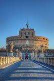 Heilige Angel Castle (Castel Sant Angelo) Rome stock afbeelding