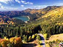 Heilige Anna Lake, Transsylvanië, Roemenië stock afbeelding