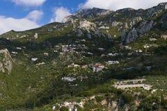 Heilige Anna Monastic Community in Onderstel Athos, Halkidiki, Griekenland royalty-vrije stock foto