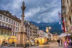 Heilige Anne Column in Innsbruck, Oostenrijk. Royalty-vrije Stock Afbeeldingen