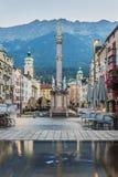 Heilige Anne Column in Innsbruck, Oostenrijk Stock Afbeelding