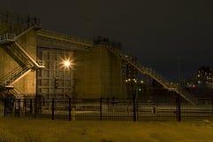 Heilige Anthony Falls Lock en de Voorzijde van de Dam stock foto's