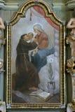 Heilige Anthony van Padua Stock Afbeelding
