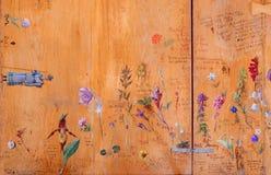 HEILIGE ANTON, SLOWAKIJE - FEBRUARI 26, 2014: Tekeningen van bloemen en installaties door Bulgaarse tsaar Ferdinand Coburg Royalty-vrije Stock Foto