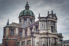 Heilige Aubin Cathedral in Namen, België royalty-vrije stock fotografie