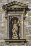 Heilige Augustine en een cherubijn stock afbeelding