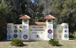 Heilige Augustine Florida Founded 1565 stock afbeelding