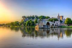 Heilige-Bénezet, Avignon, Frankrijk stock afbeelding