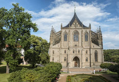 Heilige Barbara& x27; s Kerk in de stad van Kutna Hora, Tsjechische Republiek Royalty-vrije Stock Foto