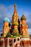 Heilige Basil Cathedral in Moskou Stock Afbeeldingen