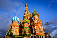 Heilige Basil Cathedral in Moskou Stock Fotografie