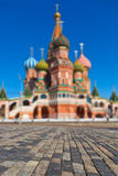Heilige Basil Cathedral op Rood vierkant, Moskou Stock Fotografie