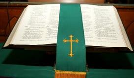 Heilige Bibel - Baptist Lizenzfreies Stockfoto