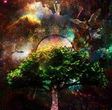 Heilige boom van het leven vector illustratie
