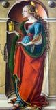 Heilige Catherine van Alexandrië (na 1491-4) door Carlo Crivelli (1430-1494) bij het National Gallery van Londen Stock Foto