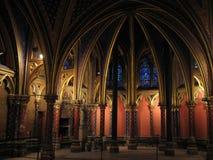 Heilige Chapelle - Parijs stock foto's