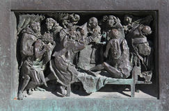 Heilige Charles onder plaag-getroffen personen Stock Fotografie