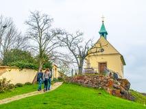 Heilige Claire Chapel bij Troja-Wijngaarden, Praag, Tsjechische Republiek royalty-vrije stock foto's