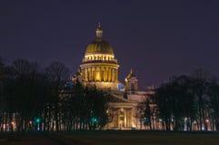 Heilige de Kathedraal van Petersburg, Rusland, St. Isaac Stock Foto