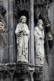 Heilige an der Aachen-Kathedrale Lizenzfreies Stockfoto