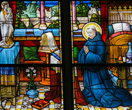 Heilige Dominic - Gebrandschilderd glas Stock Foto