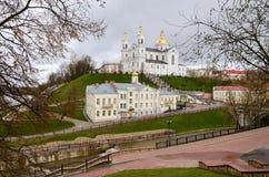 Heilige Dormition-Kathedraal op Uspenskaya-berg, Vitebsk Stock Afbeelding
