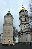 Heilige Dormition Pochayiv Lavra in Pochayiv, de Oekraïne stock foto's
