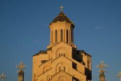Heilige Dreiheit-Kathedrale von Tbilisi stockbilder