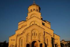 Heilige Dreiheit-Kathedrale von Tbilisi lizenzfreie stockbilder