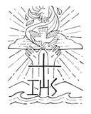 heilige drievuldigheid stock illustratie