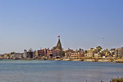 Heilige Dwarka-dhama royalty-vrije stock afbeelding