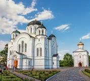 Heilige Dwarskathedraal. Kerk van de Transfiguratie.  Polotsk. Stock Afbeelding