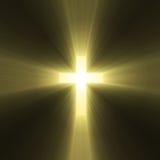 Heilige dwarszon lichte gloed Stock Afbeeldingen