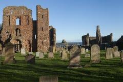 Heilige Eiland (Lindisfarne) Priorij Northumberland, Engeland Royalty-vrije Stock Foto