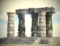 Heilige en Geheimzinnige Ruïnes onder Daglicht Royalty-vrije Stock Afbeeldingen