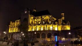 Heilige-Eustache, Parijs Stock Fotografie