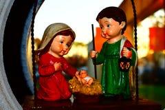 Heilige Familie - Weinig Voederbak Jesus Royalty-vrije Stock Fotografie